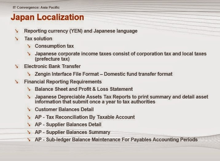 Japan Localization Oracle