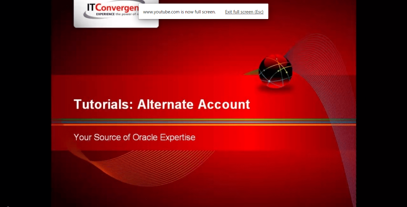 Alternate Account: Oracle R12 Financials New Features Tutorials