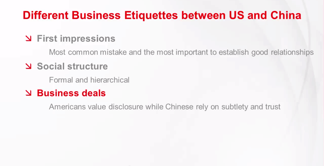 China vs US Business Practice