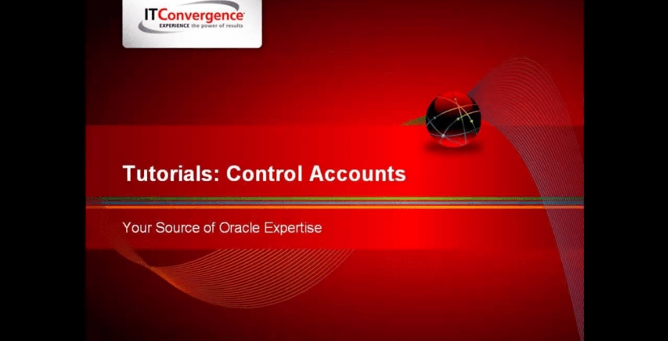 Control Account - Oracle R12 Financials New Features Tutorials