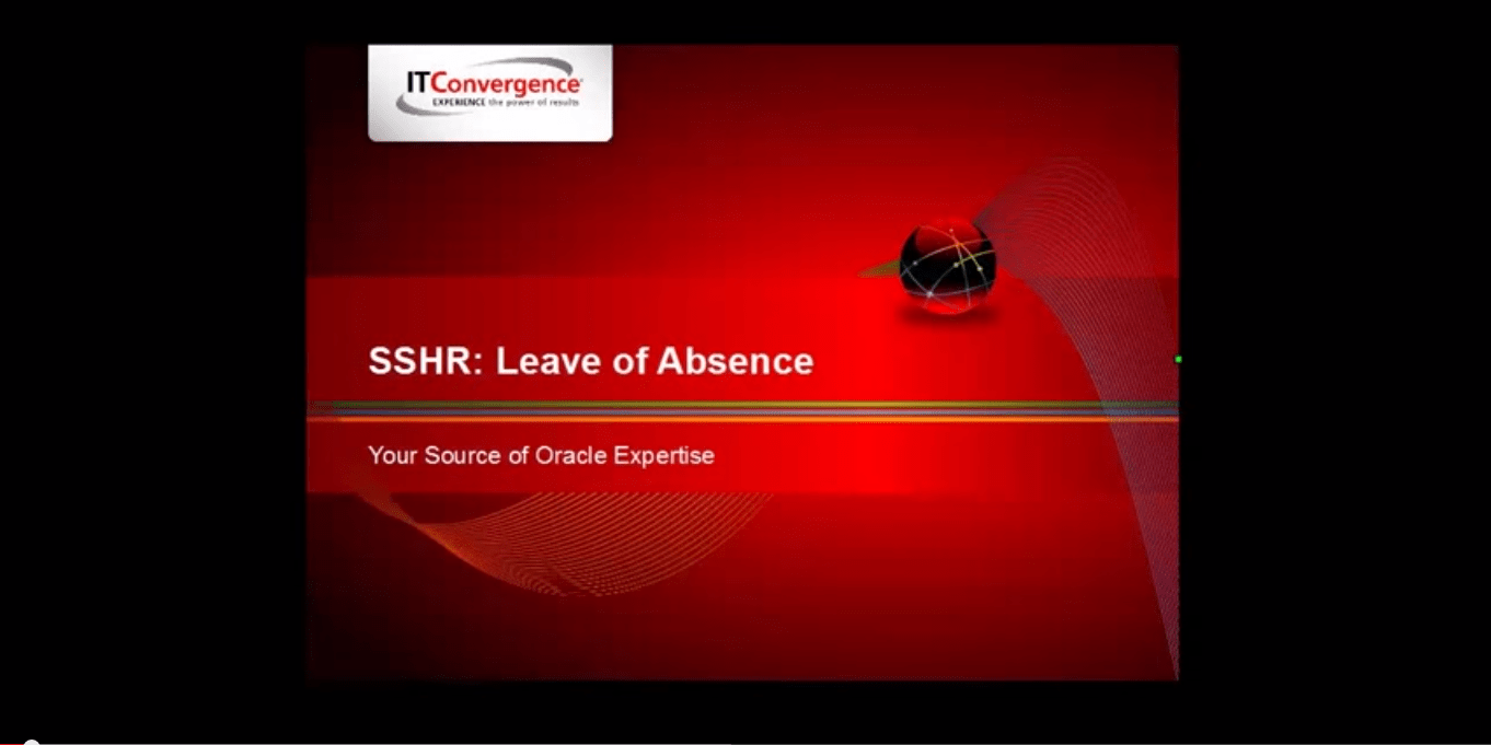 Creating Leave of Absense in Oracle Self Service HR