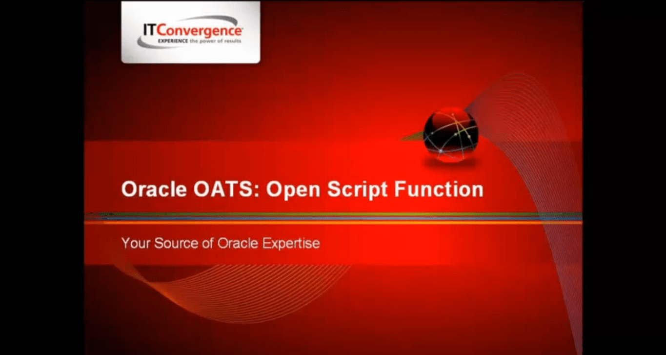 Open Script Function of OATS