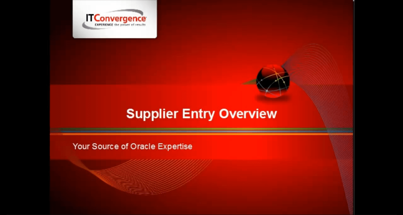 Oracle Payables: How to Create a Supplier Entry