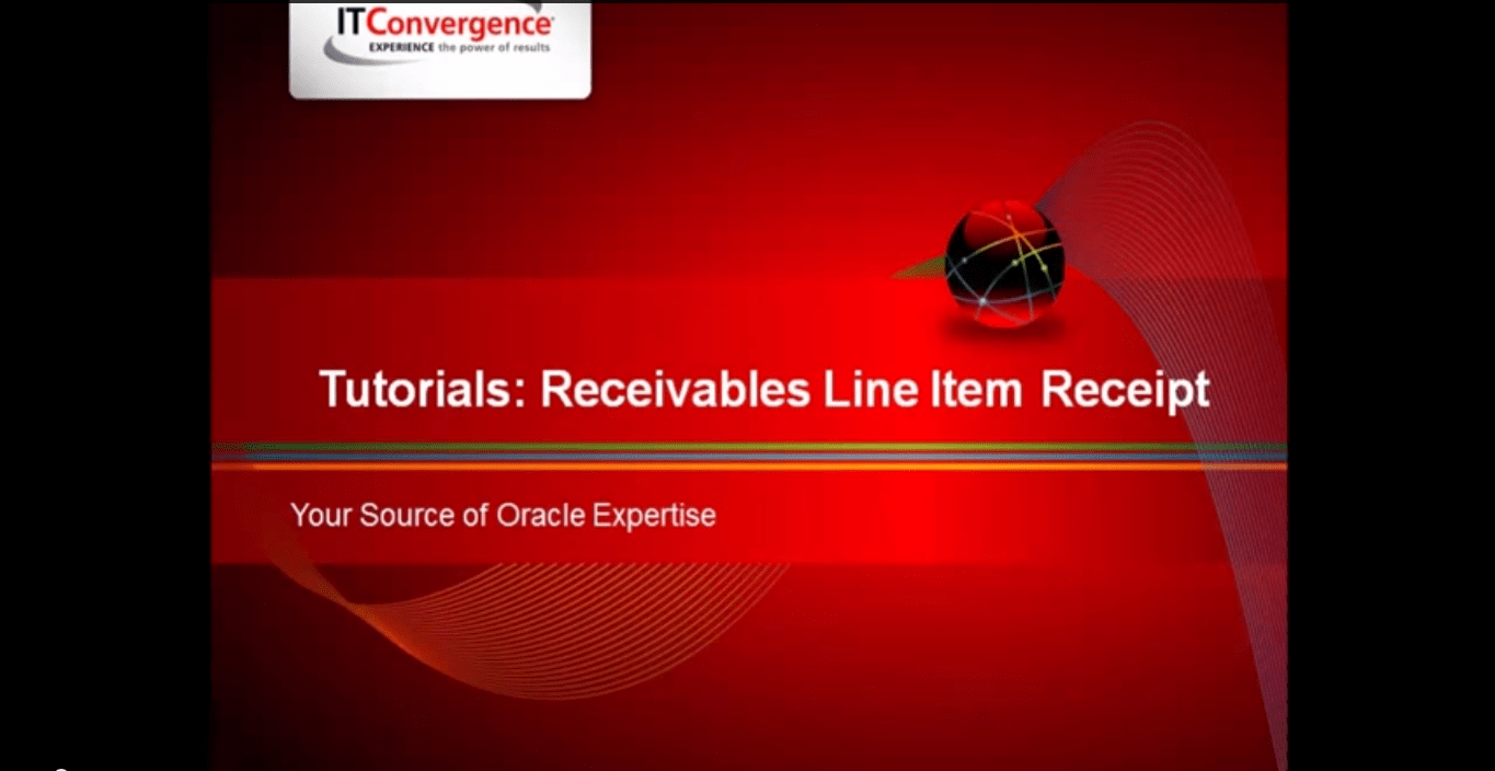 Oracle Receivables Line Item Receipt