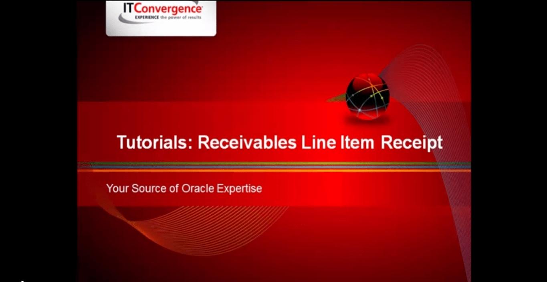 Oracle Receivables Line Item Receipt
