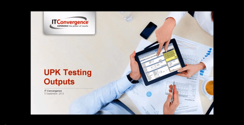 UPK Testing Outputs