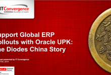 Support Global ERP Rollouts with Oracle UPK The Diodes China Story
